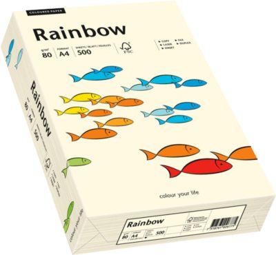 Farbiges Kopierpapier Mondi Rainbow, DIN A4, 80 g/m², hellchamoisgelb, 1 Paket = 500 Blatt