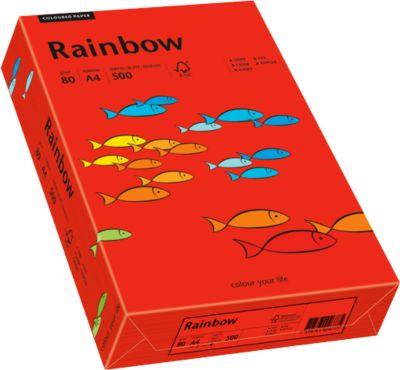 Farbiges Kopierpapier Mondi Rainbow, DIN A4, 80 g/m², intensivrot, 1 Paket = 500 Blatt