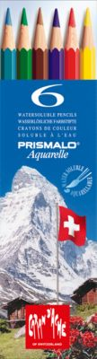 Farbstifte Caran d´Ache Prismalo Aquarelle, 6 Stück