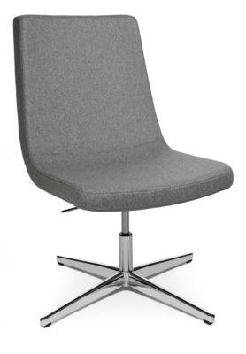 Fauteuil Sitness Lounge 20, draaibaar, 3D-Sitness-scharnier, draagvermogen tot 110 kg, zonder armleuning, lichtgrijs