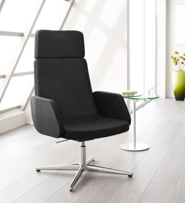 Fauteuil Sitness LOUNGE, zonder armleuning, antraciet