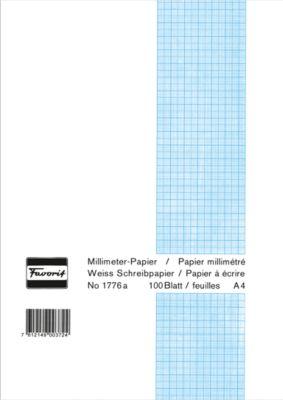 Favorit Millimeterpapierblock, A4, 100 Blatt