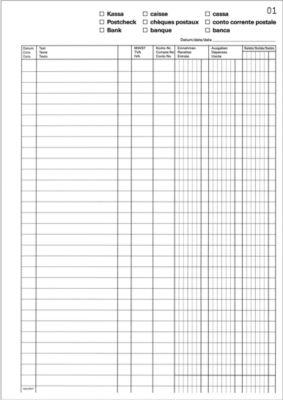 Favorit MWST-Geschäftsbuch, 50 x 2 Batt, D/I/F
