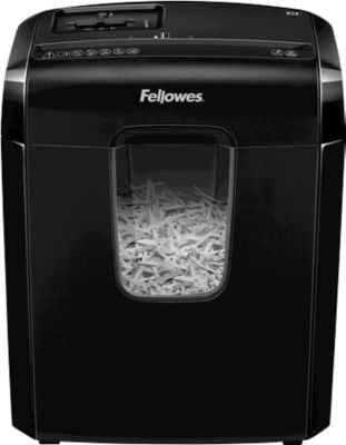 Fellowes Aktenvernichter Powershred 6C, 4 x 35 mm Partikelschnitt, für Home Office