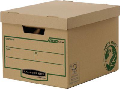 Fellowes Archivbox Bankers Box® Earth Heavy Duty, besonders verstärkt, mit Deckel, 100 % Recycling-Karton, 10 Stück