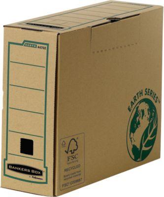 Fellowes Archivschachtel Bankers Box® Earth, DIN A4, Rückenbreite 100 mm, 20 St