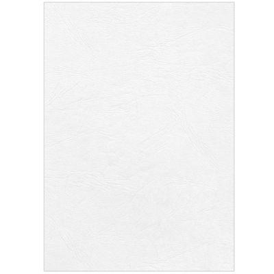 Fellowes Deckblatt Leder, DIN A4, für Bindemaschinen, weiss, 250g, 100 Stück