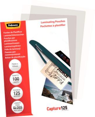 Fellowes® Lamineerhoesjes, creditcard, 75 x 105 mm, 125 micron, pak van 100 stuks