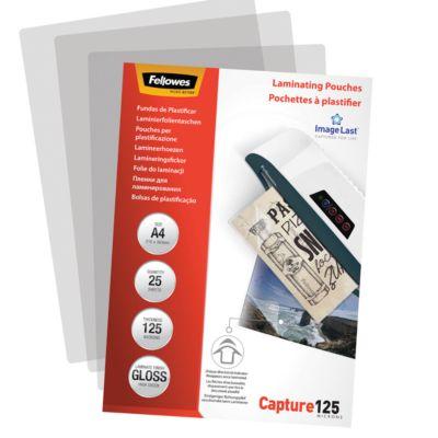 Fellowes Laminierfolie ImageLast, glänzend, DIN A4, Stärke 125 Mikron, 25 Stück
