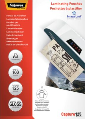 FELLOWES Laminierfolien, DIN A3, 125 mic., 100 Stück