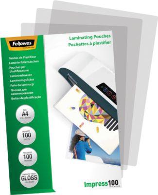 FELLOWES Laminierfolien, DIN A4, 100 mic., 100 Stück