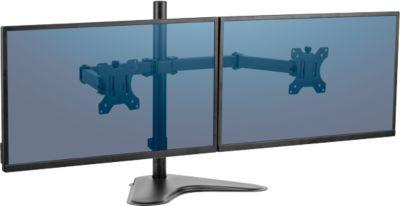 """Fellowes® Professional Series™ dubbele horizontale monitorarm vrijstaand, voor beeldschermen tot 32"""""""