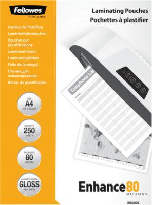 Fellowes® Lamineerfoliehoesjes, A4, 80 micron, 250 stuks