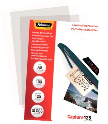 Fellowes® Value-pak lamineerhoesjes, A6 formaat, 125 micron, pak van 250 stuks