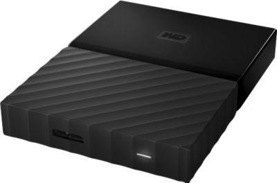 Festplatte WD MY PASSPORT, USB 3.0, schwarz, 4 TB