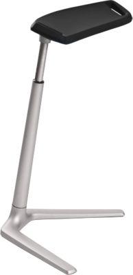 FIN stahulp, voet alu, met hoogte-instelling van 660-930 mm, zwart