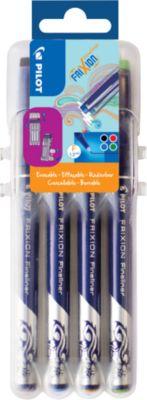 Fineliner FriXion 4er-Set Klassik, KS-Spitze, Strichstärke 0,45 mm, radierbar, 4 Standardfarben