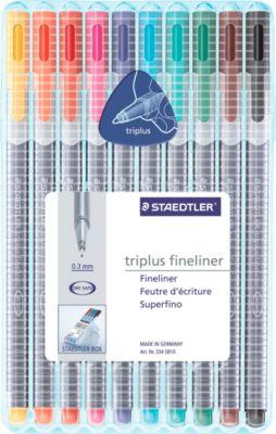 Fineliner STAEDTLER Triplus 334, 10er-Mix