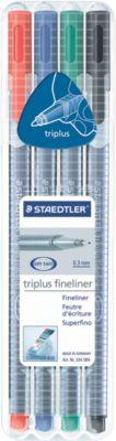 Fineliner STAEDTLER Triplus 334, 4er-Mix