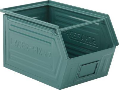 Fix-magazijnbak 14/7-2Z, plaatstaal - grijs blauw