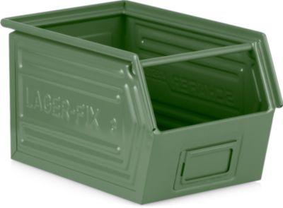 Fix-magazijnbak, LF 14/7-3, gr. 3,  plaatstaal, 10 l - groen