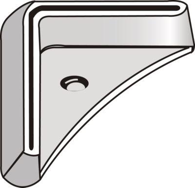 FIX-voetplaten voor profiel 2, verzinkt staal, links