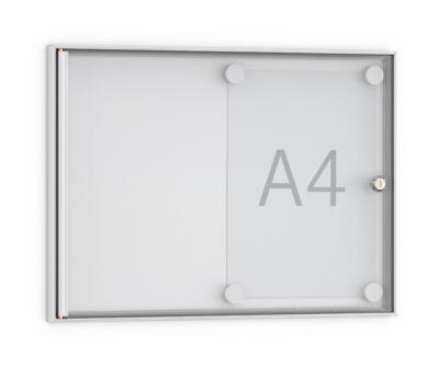 Flach-Schaukasten, spitz, 2 x DIN A4, Acryl-Ganzglastür