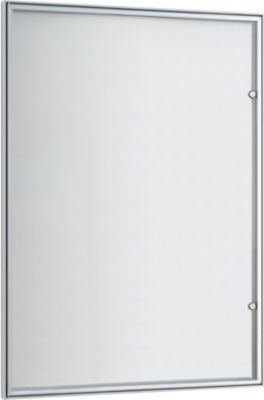 Flach-Schaukasten, spitz, 9 x DIN A4, Glastür m. Rahmen