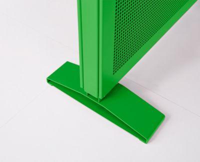 Flachfuß Akustika, f. Trennwände Akustika, höheneinstellbar, Farbe grün