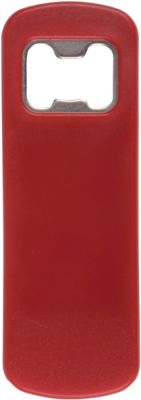 "Flaschenöffner ""Bartender"", Kunststoff/Stahl, rot, B102xT35xH4 mm, WAB B55xT25 mm"