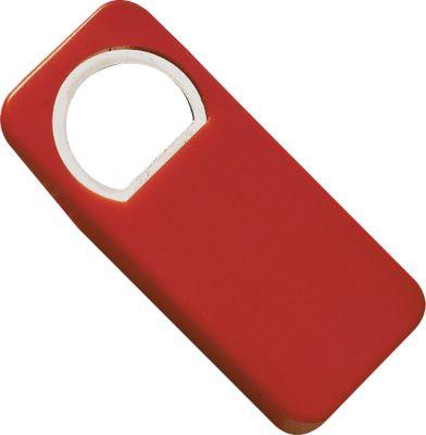 Flaschenöffner, mit Flaschenverschluss, rot