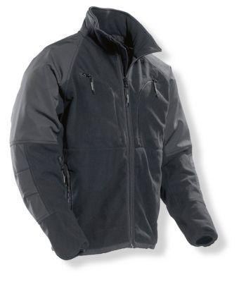 Fleece Jacke schwarz L
