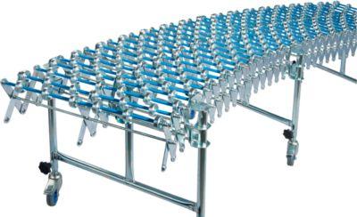 Flexibele rollenbaan, baanbreedte 500 mm, met 3 steunen