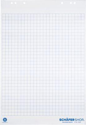 Flipchart-Block mit Recyclingpapier, 5 x 20 Bl., 80 g, kariert