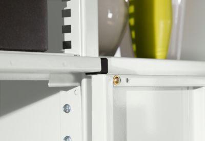 Flügeltüren-Anbausatz, für Regalsystem R 1000, H 2200 mm x B 995 mm