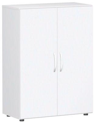 Flügeltürenschrank PALENQUE, 3 Ordnerhöhen, B 800 x T 420 x H 1104 mm, weiß