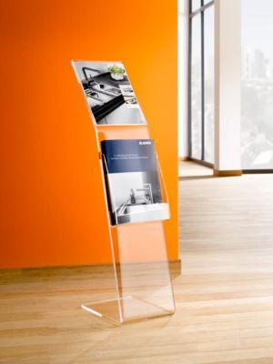 Folder standaard in acryl, transparant