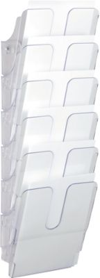 Folderdispensersysteem Flexiplus, voor 6 x A4 staand