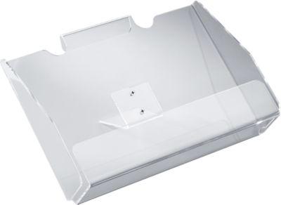 Folderhouder, helder acryl, voor DIN A4 liggend