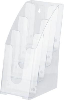 Folderstandaard, 4 vakken, 1/3 DIN A4