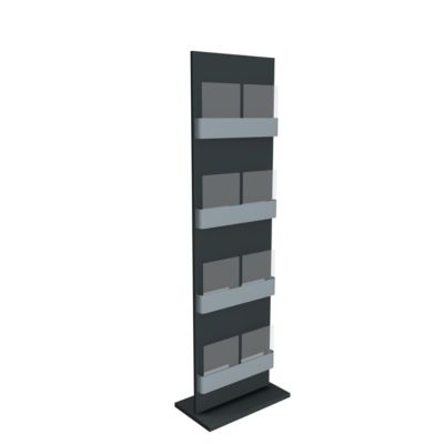 Folderstandaard FIRST, 8 x DIN A4