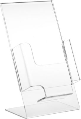 Folderstandaard, van acryl, 1/3 DIN A4