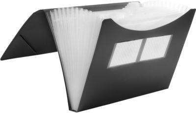 FolderSys A4 Sorteermappen met 12 vakken, zwart, stuk