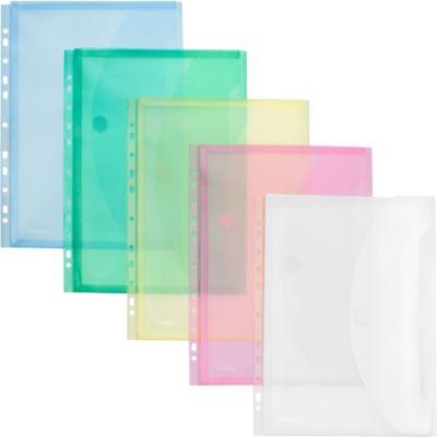 FolderSys Dokumententasche, DIN A4, Klettverschluss, PP, transluzent sortiert