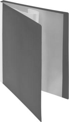 FolderSys PP-Sichtbch, für DIN A4, 10 Sichthüllen, grau