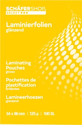 Laminierfolien, DIN A4, 25 Stück, 100 mic.