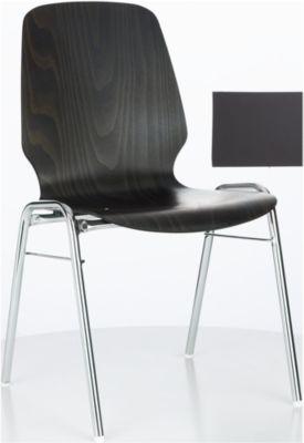 Formschalenstuhl 710, Sitzschalenform gerundet, anthrazit