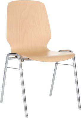 Formschalenstuhl 710, Sitzschalenform gerundet, natur