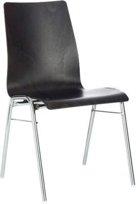 Formschalenstuhl 720, Sitzschalenform konisch, anthrazit