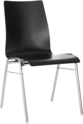 Formschalenstuhl 720, Sitzschalenform konisch, schwarz